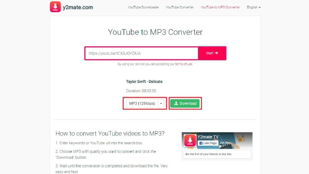 Downlod youtube to mp3