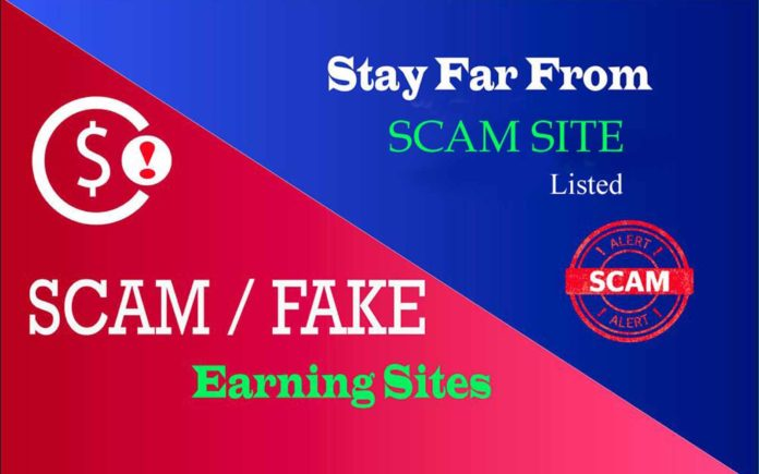 Scam Earning Sites List